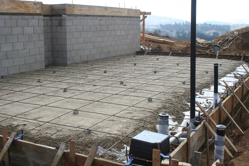 11/26/05 Concrete slab @garage level