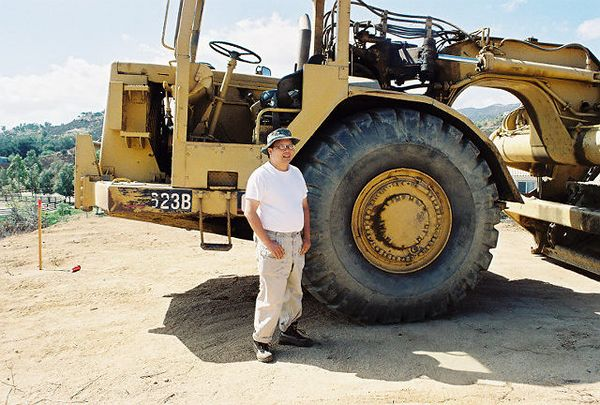 October 2004. Ginormous tractor. Grading in progress.