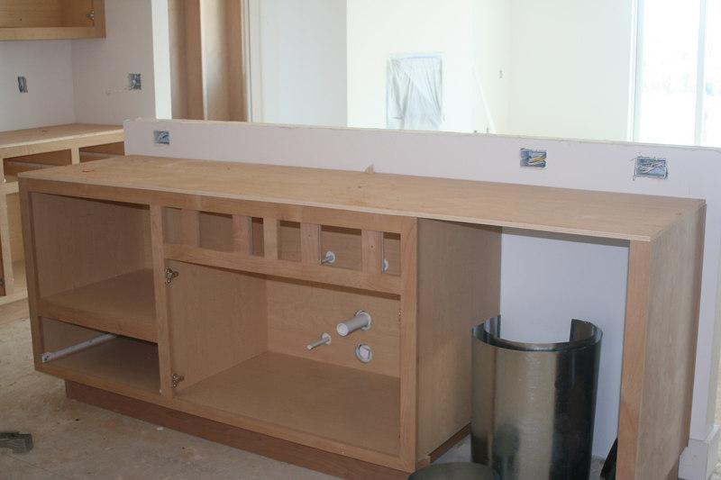 4/2/06 Kitchen island, minus doors & drawers
