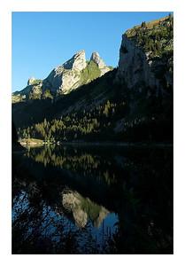Les jumelles, reflets dans le lac taney