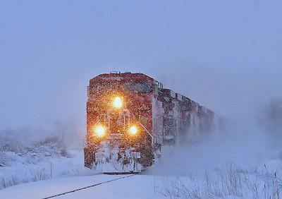 CP/D&H Empty Oil Train #609, Lacolle Qc