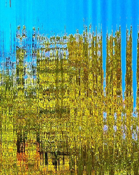 Abstract Blue and Yellow