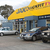 The Statesman in front of Jax Quickfit Tyres at Nowra.