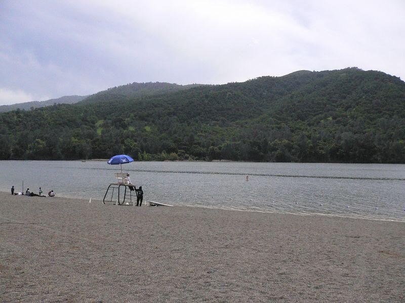 The Beach, where the swim will be.