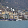 the swiss town of Montreux on the shore of Lake Geneva, famous for its international music festival