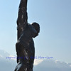 Bronze statue erected in honour of Freddie Mercury in Montreux, Switzerland on the banks of Lake Geneva where he lived for many years