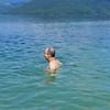 Ty, swimming