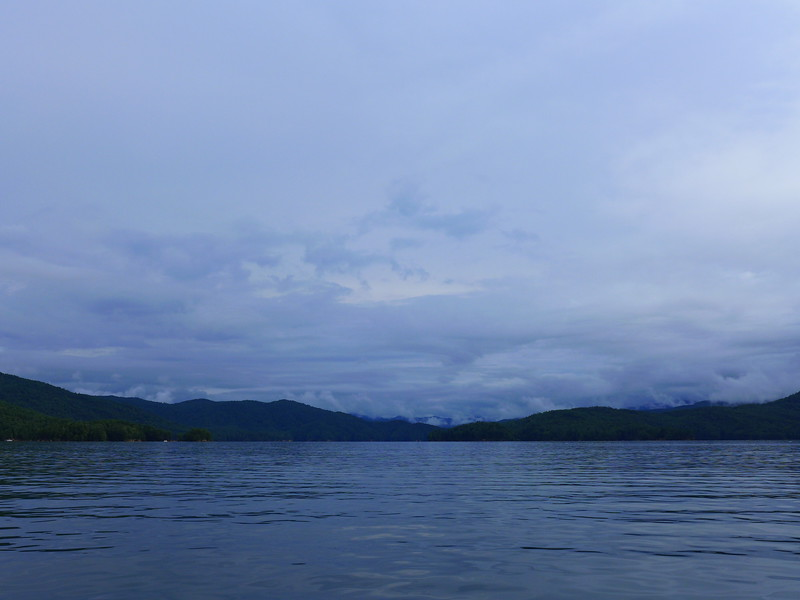 The sky was constantly changing as we headed across the lake