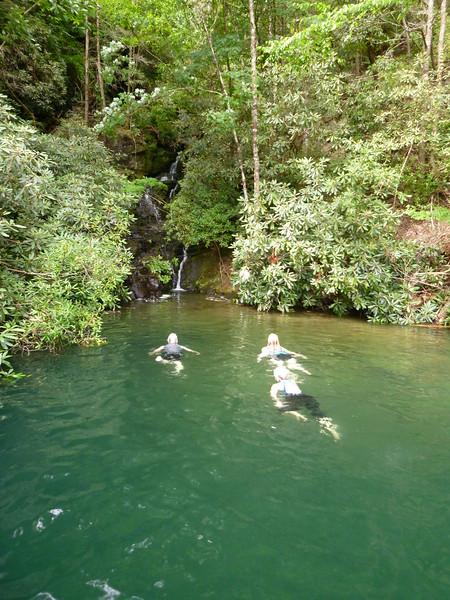 Swimming at Bad Creek cove