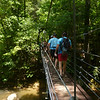 Short little suspension bridge over Toxaway Creek (not to be confused with Toxaway River).
