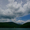 Gorgeous sky and clouds above Lake Jocassee
