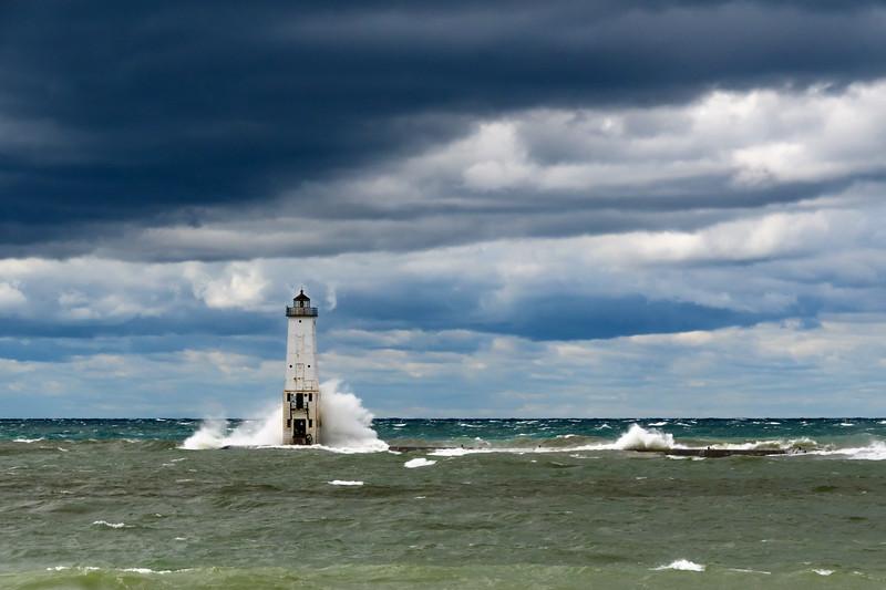 Wind Storm, Frankfort Light, Michigan