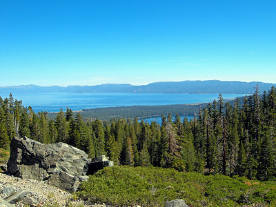 Mt. Tallac trail. Fallen Leaf lake in foreground.