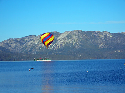 Launching the Balloon in south lake Tahoe.