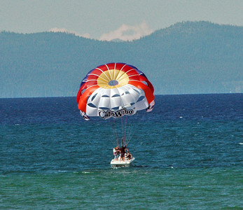 Parasailing. Went up 1,200ft. Helluva view!
