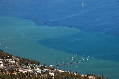 View of South Lake Tahoe from Heavenly tram.  My hotel was next to the pier.
