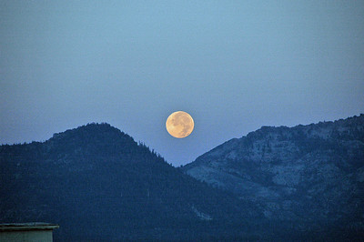 Full moon setting at dawn.