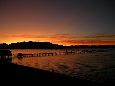 Sunset in South Lake Tahoe.
