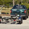 Professional bass guide Steve Boyd's pickup track and boat trailer.