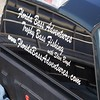 Steve Boyd's pickup truck window graphics.