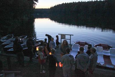 Der harte Kern der Lampionfahrer Lampionfahrt Seefest 2012
