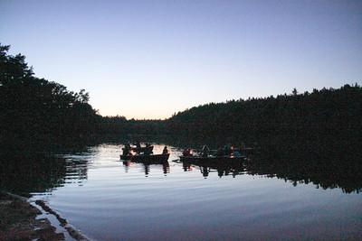 Die Lampionflotte von See-Camping Weichselbrunn Lampionfahrt Seefest 2012