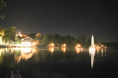 Seefest-Zentrum - hierher geht die Fahrt Lampionfahrt Seefest 2012