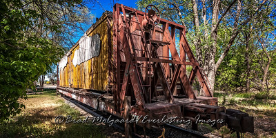 Vintage Rail Car-Lamy, New Mexico