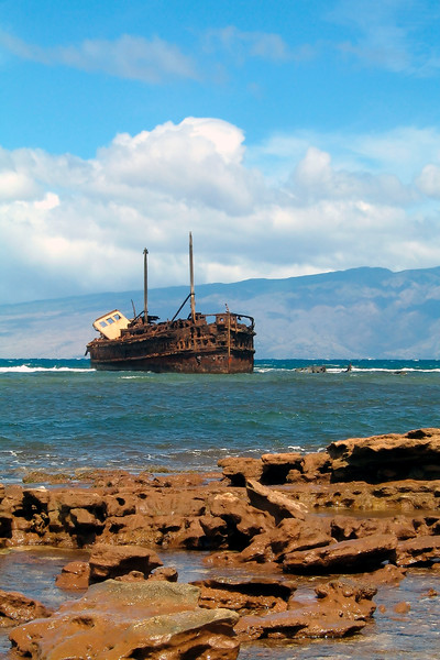 Shipwreck at Awallua - Lana'i, Hawaii