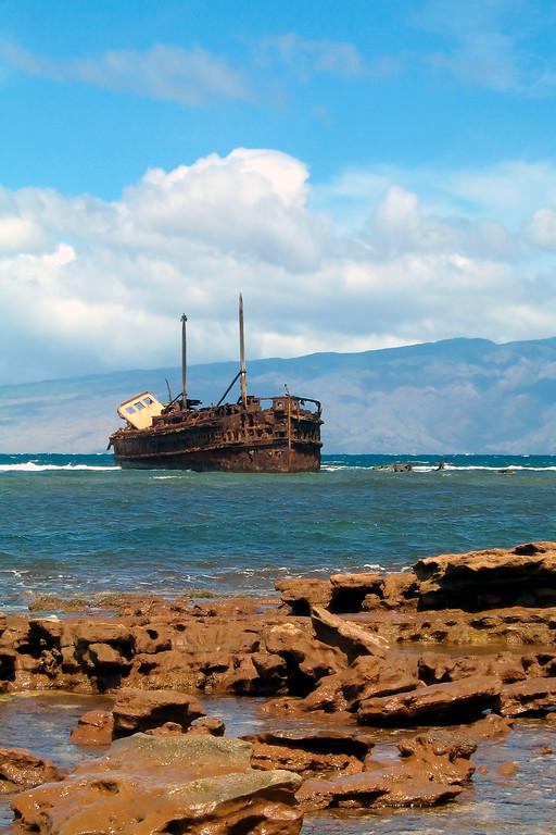 Shipwreck at Awallua - Lana'i, Hawaii