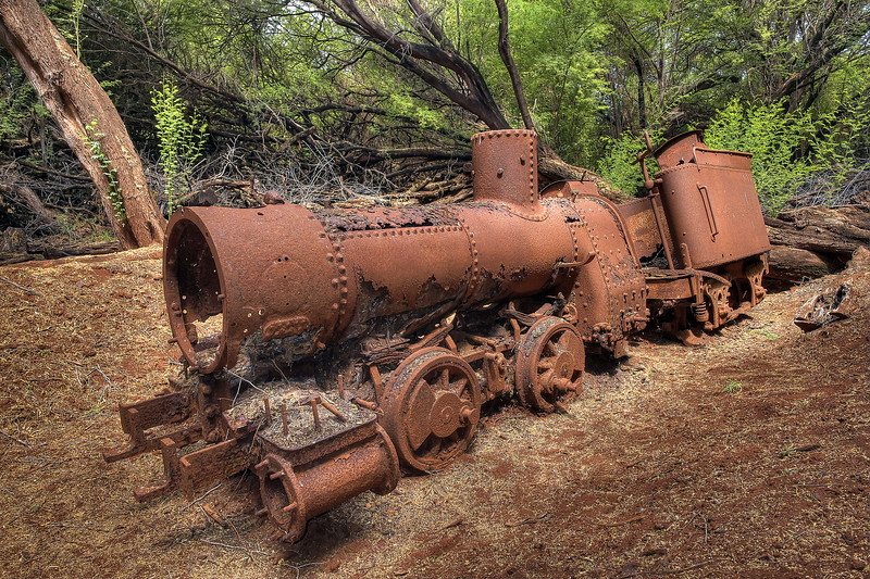 Maunalei Sugar Company Locomotive - Island of Lana'i - Hawaii