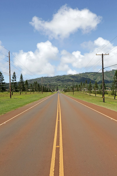Road From Airport to Lana'i City - Lana'i, Hawaii