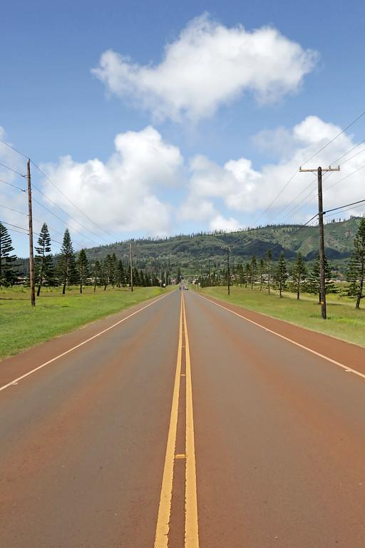 Road From Airport to Lana'i City - Lana'i, Hawaii