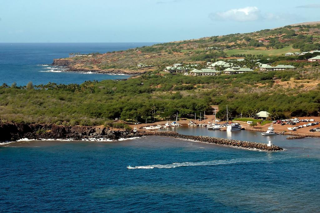 Manele Harbor and Manele Bay Resort - Lana'i, Hawaii