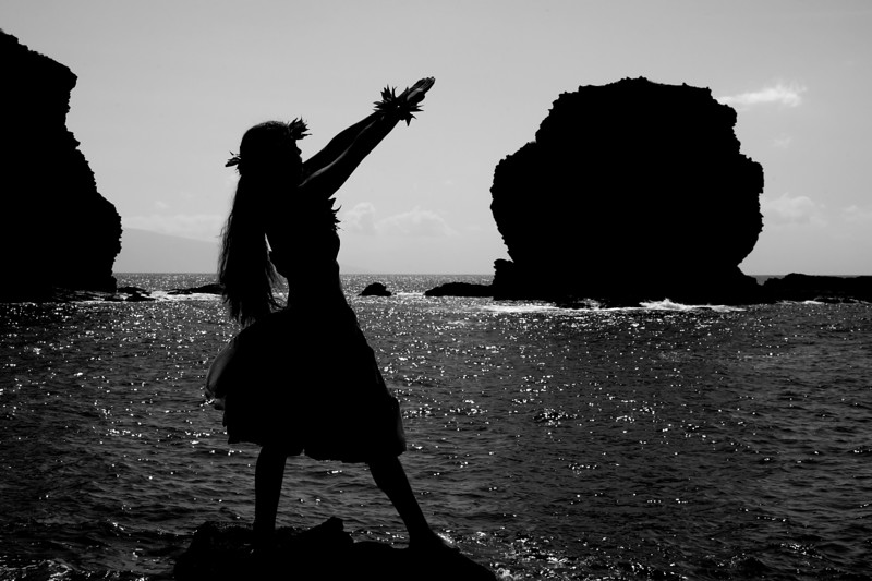 Hula at Pu'upehe - Lana'i, Hawaii