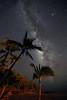 Hulopo'e Beach and Milky Way - Lana'i, Hawaii