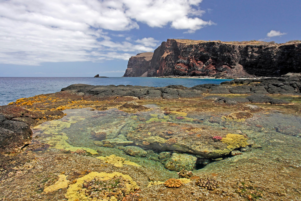 Tide Pools - Kaunolu Village -  Lana'i, Hawaii