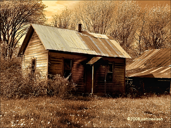 Tin roof cabin.