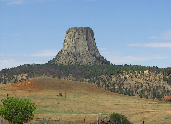Devils Tower. Also known as Bears Lodge. Black Hills of South Dakota