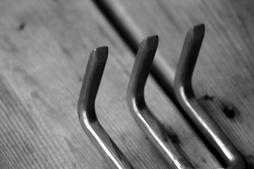 Gardening implement, on my deck...