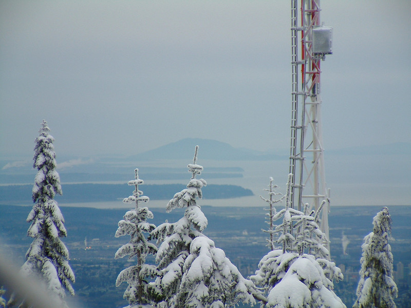 From the top of Grouse Mountain