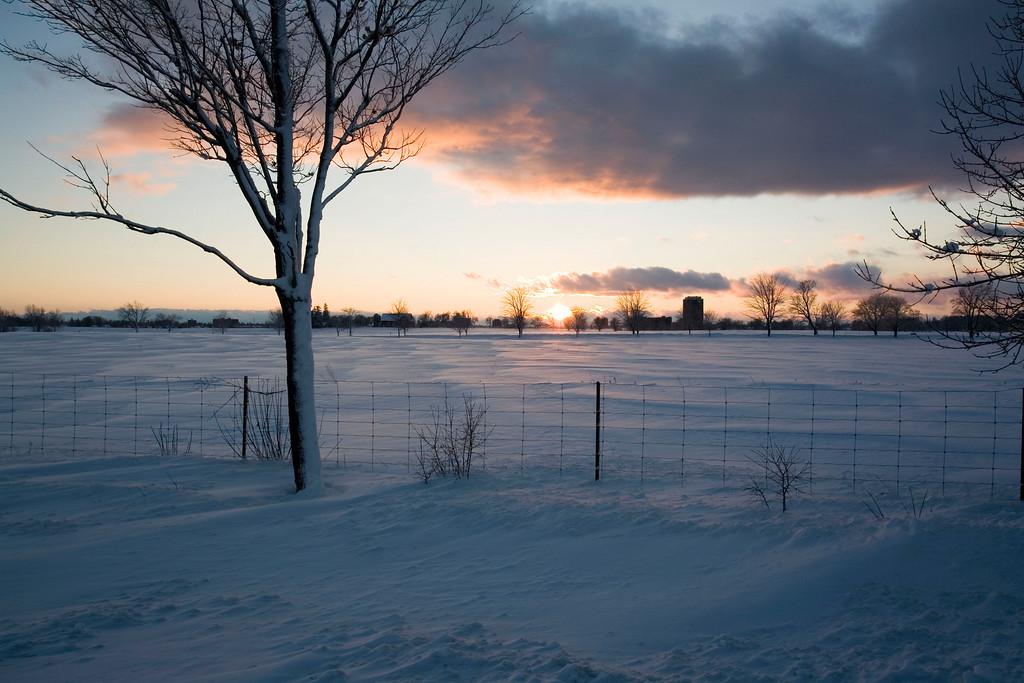 Sunset over the Experimental Farm, Ottawa
