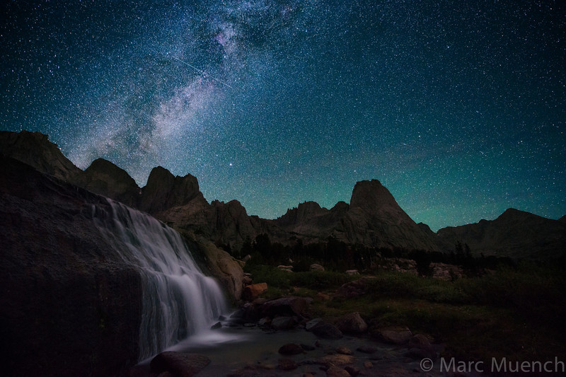 Milky Way, Cirque of The Towers, Windriver Mountains, Wyoming.