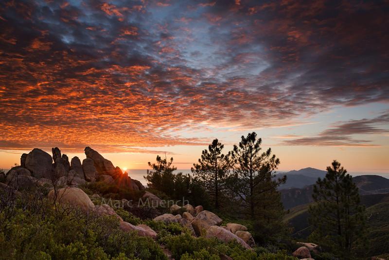 ©Marc Muench - sunset, Santa Ynez Mountains, California