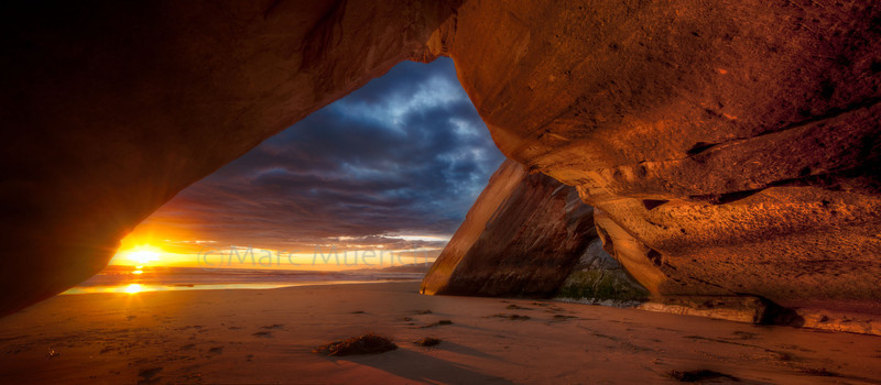 ©Marc Muench - Cave at sunset, Santa Barbara Coast, California