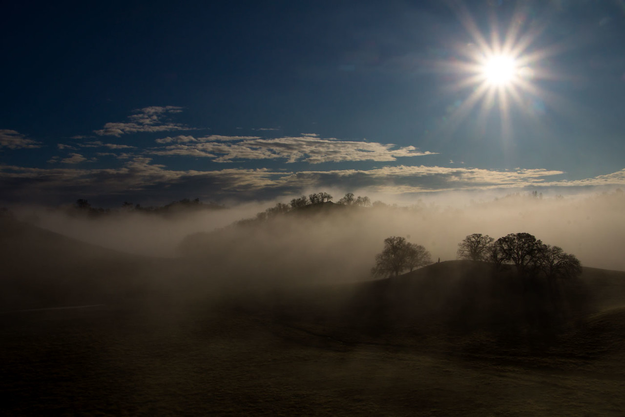 Morning sky w/fog