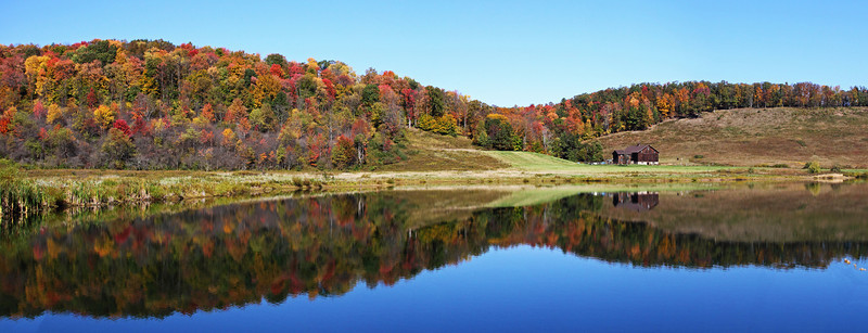 This is a panoramic photo of five shots. I came across this scene on my way home from photographing Elk in Pennsylvania.