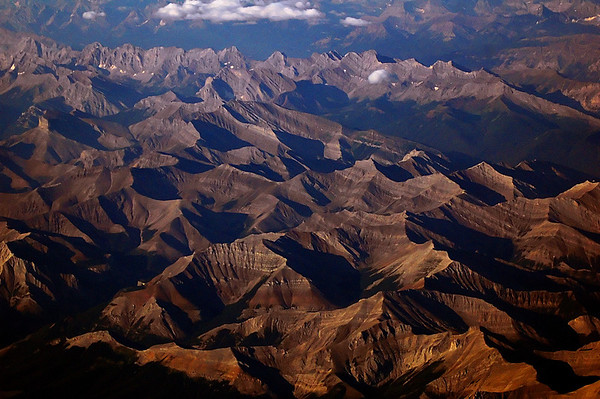 Rocky Mountains between Calgary and Vancouver Canada