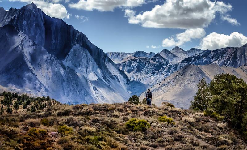 Landscape Photographer Captain Photo sixing up the shot