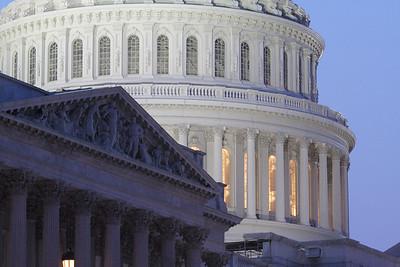 U.S. Capitol and Senate Building at Dusk, Washington, D.C.
